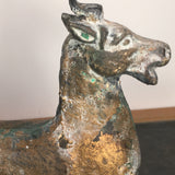Vintage Cast Iron Horse with painted exterior