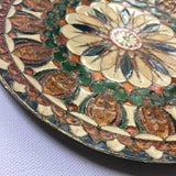 Brass Enamel Plate Wall Decor Bohemian Global Style Decor