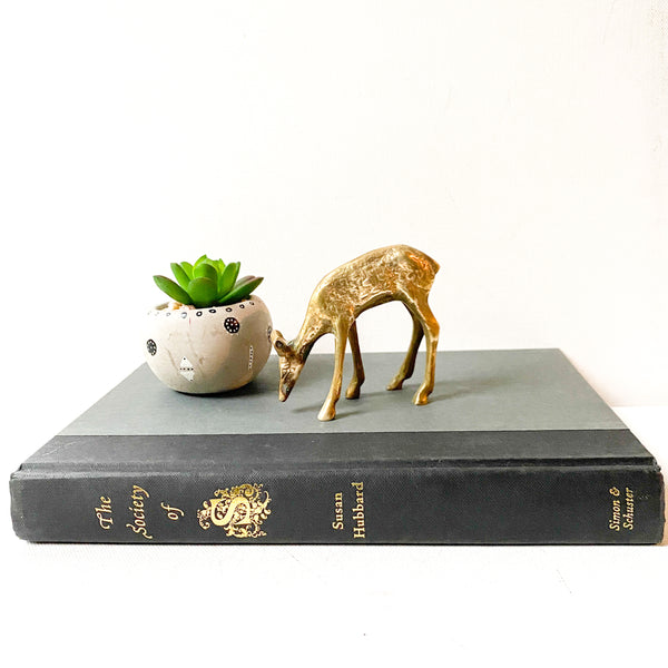 Vintage Brass Deer Figurine