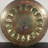 Brass Peacock Tray - Hanging Dish