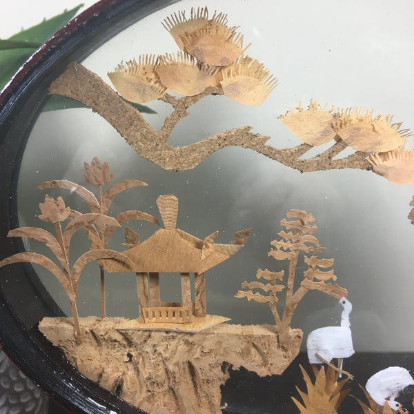Asian Cork Art Sculpture