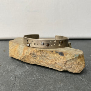 Oxidized Sterling Silver Rivets Cuff