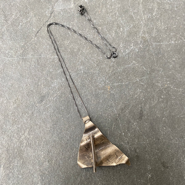 Abstract Oxidized Sterling Necklace