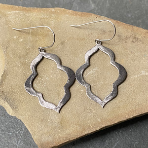 Gunmetal Scallop Earrings