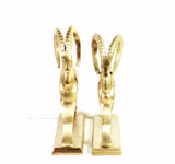 Brass Antelope Bookends (Gazelle, Ibex)