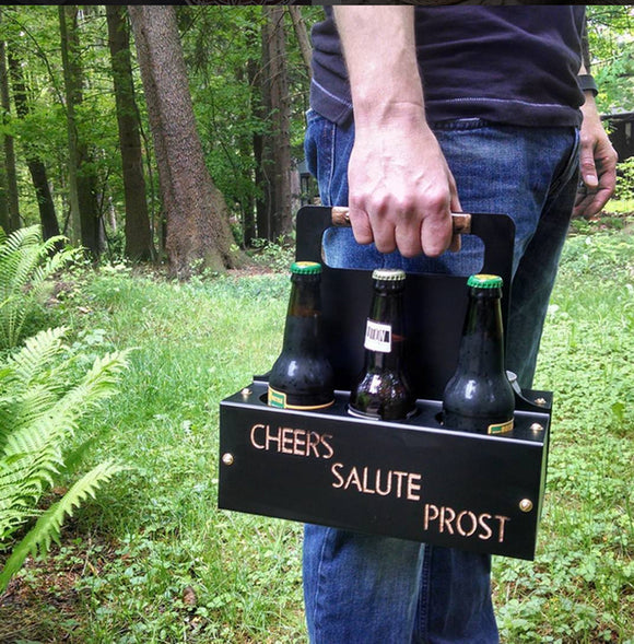 Steel Six Pack Holder - Say Cheers!