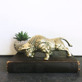 Brass Bull Sculpture Vintage Figurine
