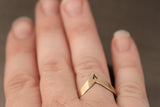 Chevron Initial Ring