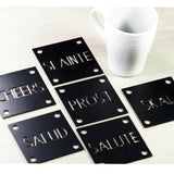 Make a Toast Coasters - Set of Six Steel Drink Coasters