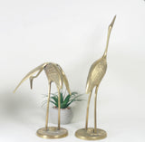 Pair of Vintage Brass Cranes