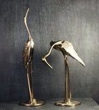 RESERVED Pair of Vintage Brass Cranes
