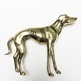 Large Vintage Brass Greyhound or Whippet