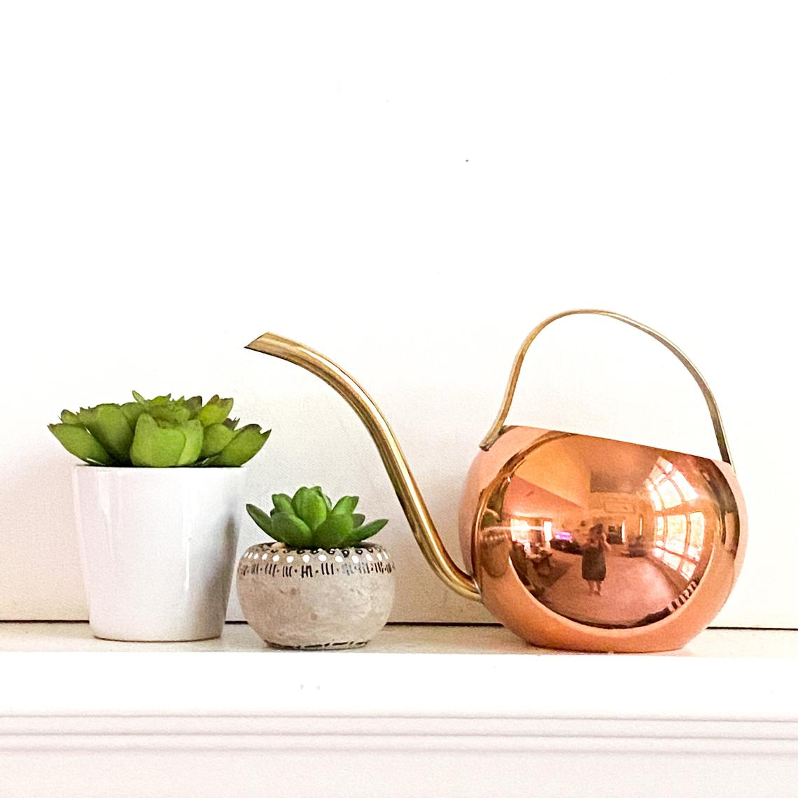 Copper Watering Can, Vintage Gardening