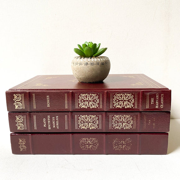 Vintage Harvard Classics Book Set,  Greek and Roman authors, including Plato, Epictetus, Marcus Aurelius, Homer, Plutarch