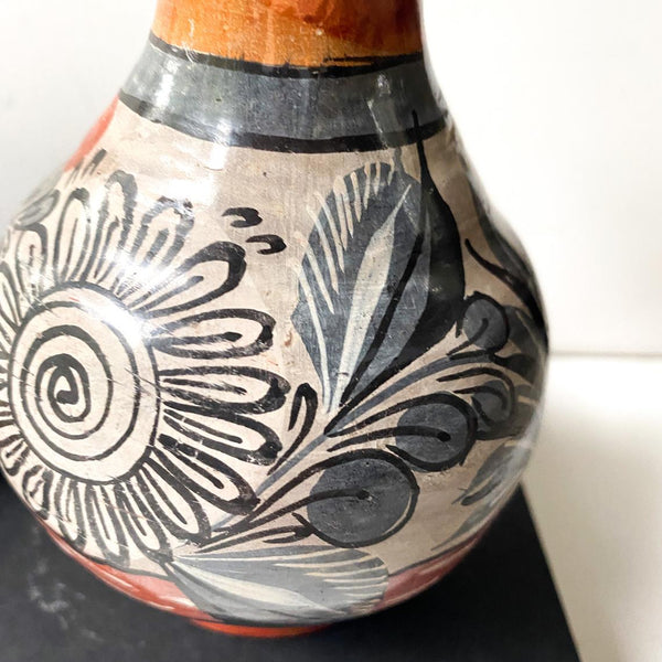 Vintage Tonala Vase, Mexican Pottery Earthenware Collectible