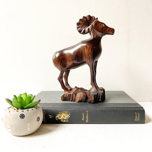 Vintage Rare Ironwood Ram Sculpture