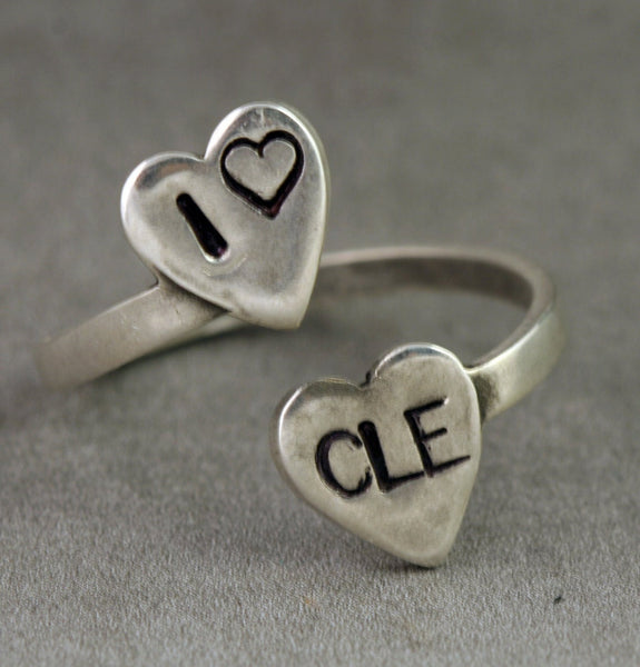 I love CLE, Cleveland Jewelry, Silver Ring