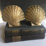 Vintage Brass Shell Bookends