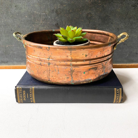 Vintage Turkish Planter, Rustic Garden Decor