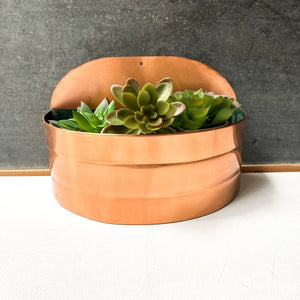 Copper Wall Pocket Planter
