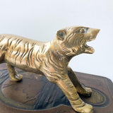 Vintage Brass Tiger Figurine