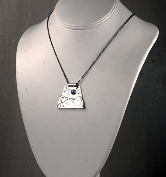 Mountain Peak Necklace, Sterling Silver, Handmade One of a Kind