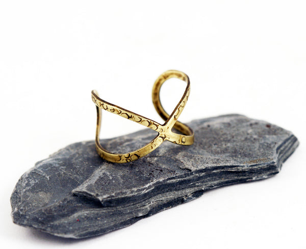 Adjustable Brass Ring The Infinity Ring