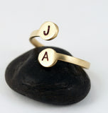 Minimalist Two Initial Ring
