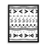 Framed Geometric Mud Cloth Inspired Wall Art