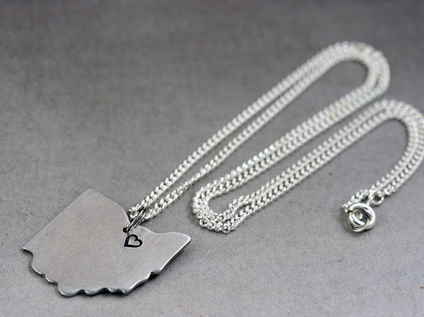 Silver Cleveland, Ohio Necklace