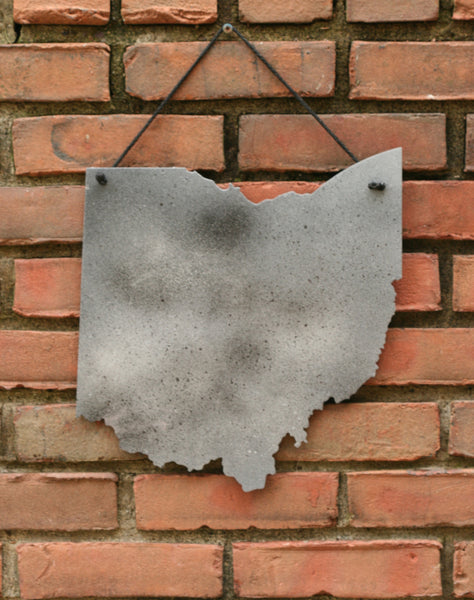 Steel Ohio Wall Art - Hand-painted Graffiti Style
