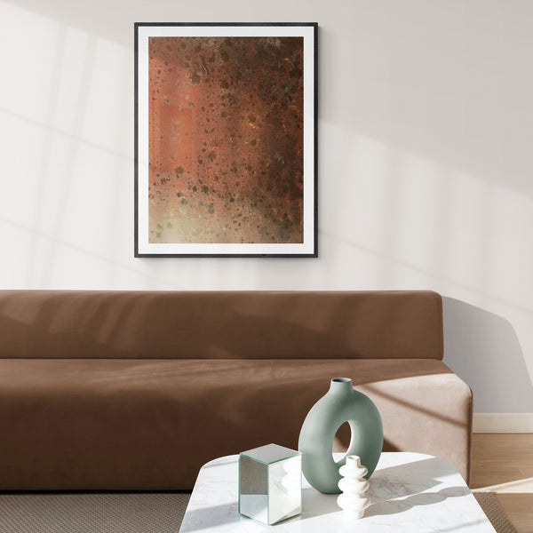 """Patina"", Metallic Spots, Indusrial Style Print, Rustic Abstract Photo"