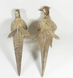 Pair of Brass Peacocks / Pheasants