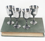Set of 4 small Salem silverplate cups