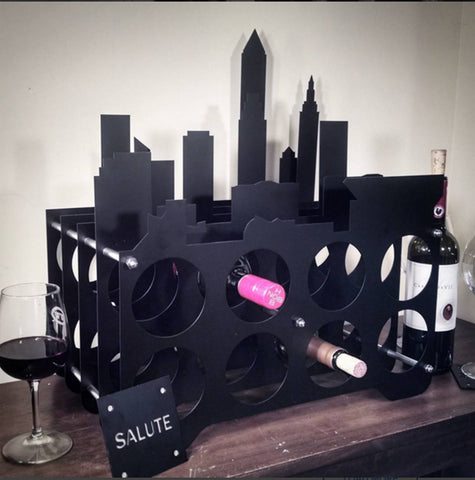 Cleveland Skyline Wine Rack