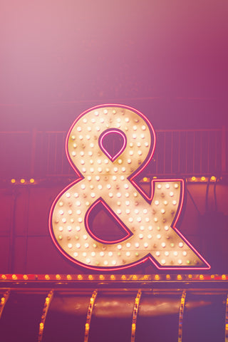 Pink Neon Ampersand Typography Photo