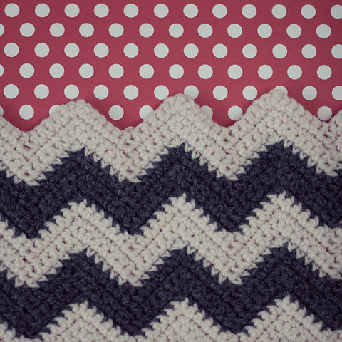 Chevron and Dot - Crochet Chevron and Polka Dot Photograph Print