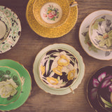 Vintage Teacups - Retro Dishware Kitchen Photograph