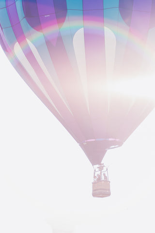 Blue and Purple Hot Air Balloon Art
