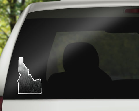 Idaho Sticker - Black and White Mist