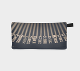 Vintage Typewriter Macro Zippered Pouch