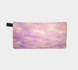 Dreamy Pink Abstract Clouds Zippered Pouch