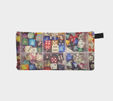 Colorful Dice Zippered Pouch