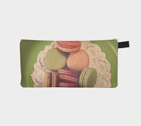 Macarons on Green Zippered Pouch