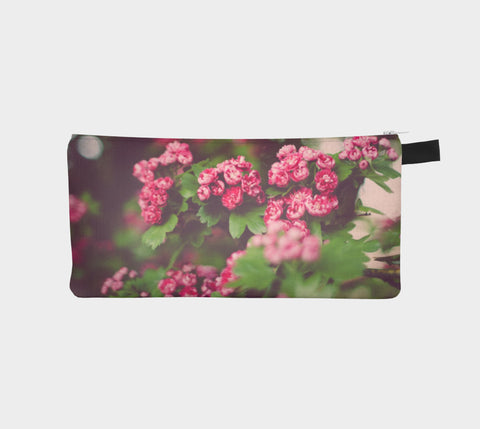 Dreamy Pink Blossoms Zippered Pouch