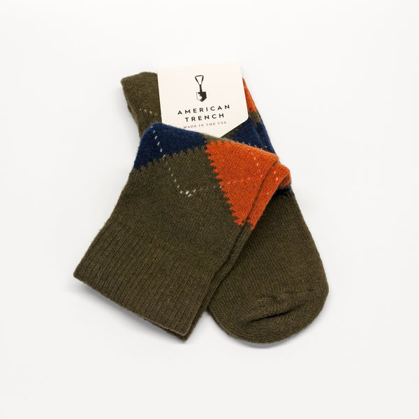 American Trench Wool Argyle Socks