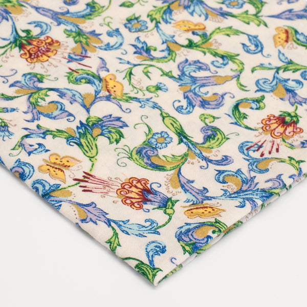General Knot & Co. 1960's Baldwin Botanical Pocket Square
