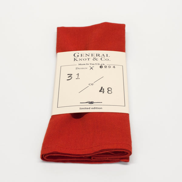 General Knot & Co. Persimmon Pocket Square
