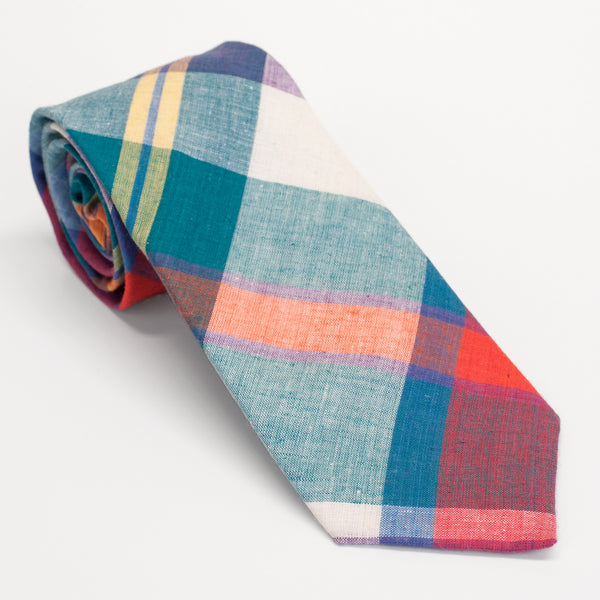 General Knot & Co. Block Island Madras Cobalt Dot Tie