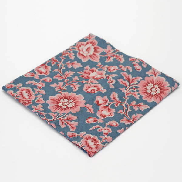 General Knot & Co. Vintage Cherry Blossoms Pocket Square